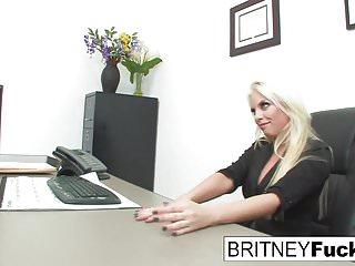 .Britney Amber Fucks For The Job.