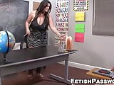 Schoolgirl Alby Rydes jerks off students cock with teacher