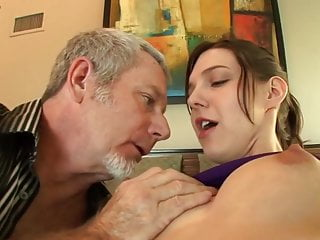 video: Teen gets her bald pussy drilled by an old mans cock