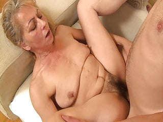 High Heels Granny Eating Pussy video: Horny grandmom seduced by her stepson