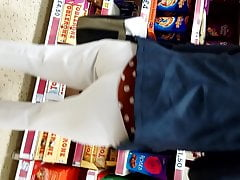 Candid Indian Milf pantaloni bianchi vpl pt1