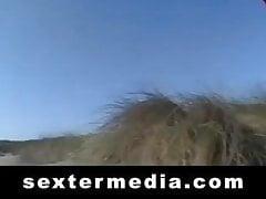 Coños peludos muestran en la playa