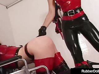 Porno video: Latex Nurse RubberDoll Experiments On Mental Patient K-La!