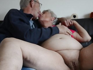 Grannies Fingering Kissing video: Fat old granny kissing