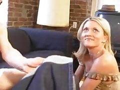 Hot Blonde Milf fucking young boy