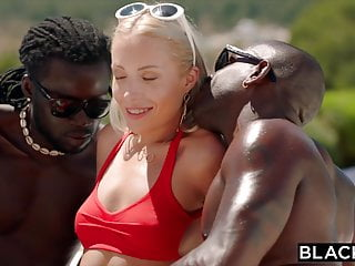 Interracial Double Penetration Blonde video: BLACKED She treated herself to a double BBC vacation