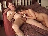 Moustache dad with big cock fucks wife