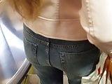 Nice girl's ass in the metro