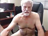 white haired grandpa cumming