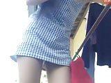 Thai Teen upskirt during house work 2