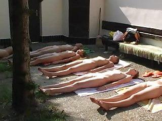 Softcore Czech European video: Czech nude group yoga part 1