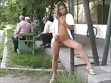 Girls naked in public