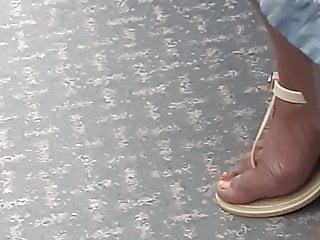 Hd Videos video: Candid orange ebony toes