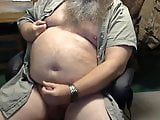 Big beard and belly cock play
