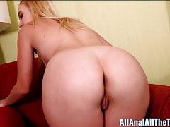 La loca anal Samantha Rone toma a Dick en el culo para todos los anales