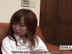 Sottotitolato CFNM studentessa giapponese annoiata con boyfrien cornea