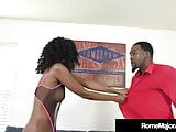 Black Porn! Rome Major Bangs Milf Brandi Foxx Before Church!