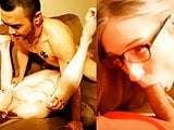 Nerdy Little Slut Face Whore Fucked by Asian Guy