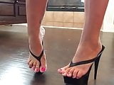 Thong High Heel Platforms and beautiful toes