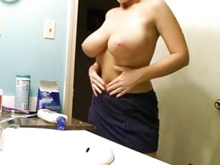 bathroom big boobs hidden cam