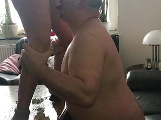 German Amateur video: Horny Milf pissing man in the face