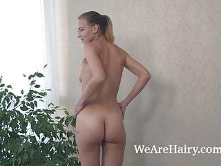 Kristina Bud masturbates after a hot workout