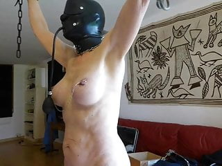 Nipples Bdsm Latex video: Slave is punished with fish hooks in tits