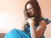 Russian Brunette loves to smell her sandals 1