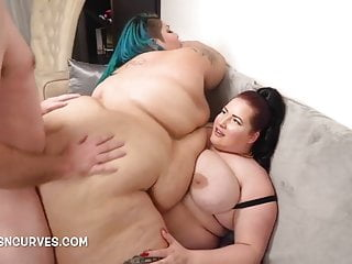 Anal Bbw porno: Huge butt slut receives DP