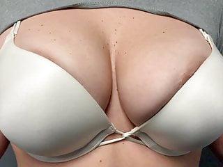 Nipples Lingerie Tits video: White Bra too Small