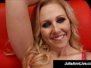 Blonde Blowjob Big Tits video: Mega Milf Julia Ann Performs A Work Of Art On A Hard Cock!