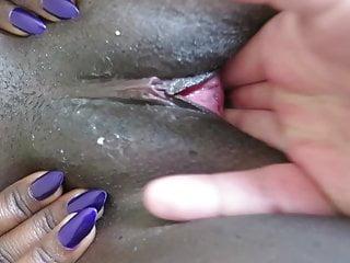 Fingering Black Orgasm video: Fingering an African cunt
