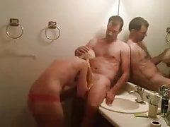 Skinny Blonde Teen chick Bathroom Sex