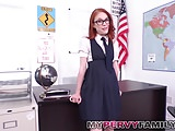 Nerdy Red Head Sister Fucks Step Brother in Class Room!