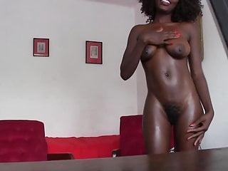 Amateur Blowjob Big Ass video: African Beauty Anal Casting