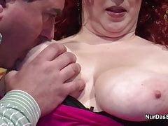 Mamá y papá alemanes en el casting porno por primera vez