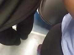 Encoxada on train