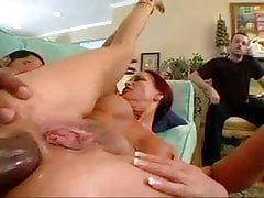 Husband watches how his friend fucks his wife in the ass