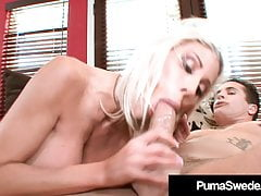 Busty Blonde Puma Swede Fucked & Cummed On By Hard Cock!