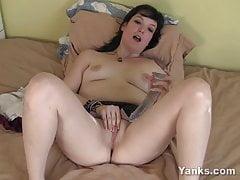 Yanks Brown-haired Virgin Marie's Meaty Dildo