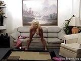 Big Boob Blonde Dildo Play