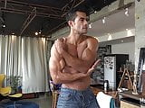 Muscle hunk hot posing
