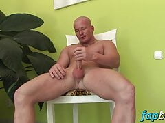 Muscular dude Alfredo Castaldo loves stroking his meatsicle
