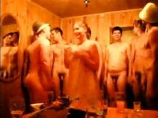 RUSSIAN straight guys are naked in russian bath.crazy video
