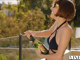 Blowjob Big Cock Brunette video: VIXEN Janice Griffith Is A Bad Ass Sorority Queen