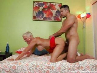 Short Hair Blonde Cougar Fucks BBC