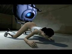 Wheatley scopa The Out Of Chell dal portale 2