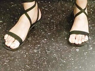 Candid ebony feet