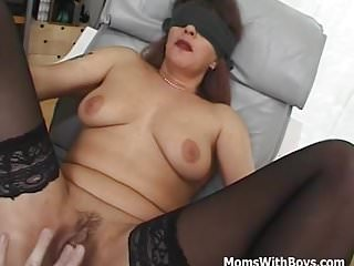 .Blindfolded and Tied Mama Fucked With Facial.