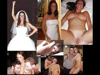 Lingerie Teen Big Cock video: wedding dress before during after wife husband cuckold milf